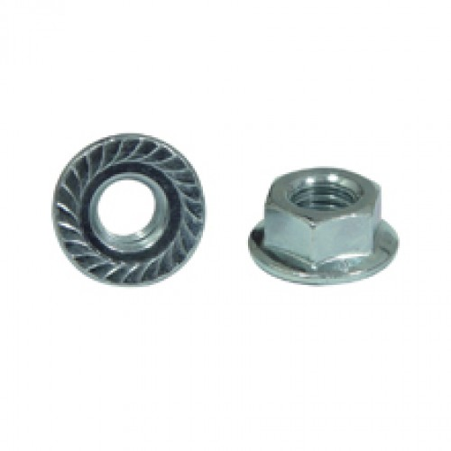 HEXAGON FLANGE NUT WITH SERRATION | M8 - DIN 6923+SE